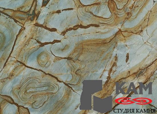 Камень кварцит Blue Stone
