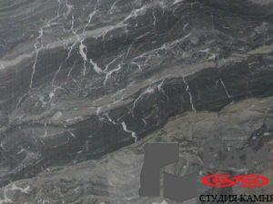 Натуральный камень мрамор Arabescato Grijio (черный)