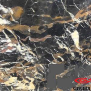 Натуральный камень мрамор Black and Gold (серый)