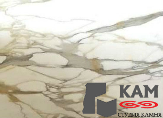 Натуральный камень мрамор Calacatta Borghini (белый)