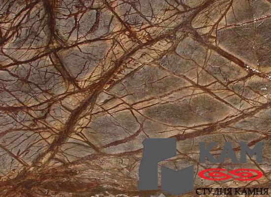 Натуральный камень мрамор Forest Brown (коричневый)