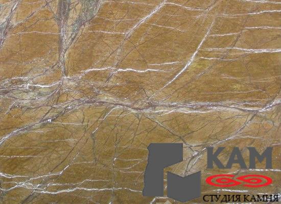 Натуральный камень мрамор Forest Golden (бежевый)