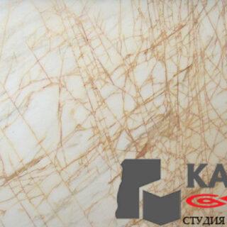 Натуральный камень мрамор Golden Spider (белый)