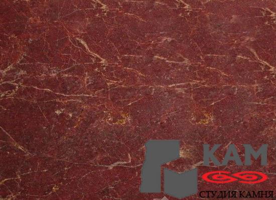 Натуральный камень мрамор Rosso Barocco (красный)
