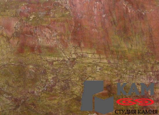 Натуральный камень мрамор Rosso Damasco