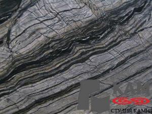 Натуральный камень мрамор Silver Brown Wave (серый)