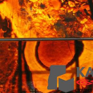Натуральный камень оникс Orange Nuvolato