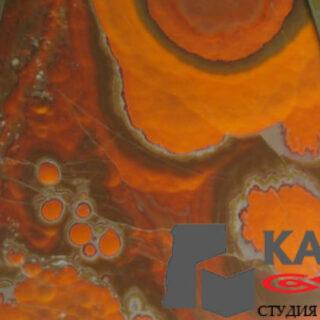 Натуральный оникс Orange Nuvolato 3