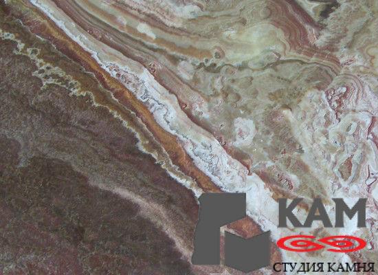 Натуральный оникс Rosso Multicolor