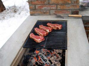 Столешница для барбекю из гранита