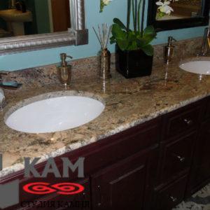Столешница для ванной из мрамора