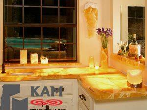 Столешница на кухню из оникса