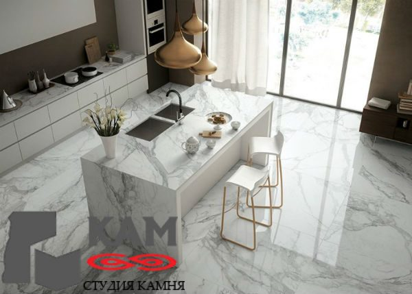 Столешница для кухни из мрамора