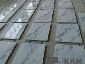 30x60cm Гуанси белый мраморный разрез до размеров плитки